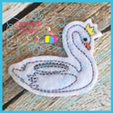 Swan With Crown Float Feltie