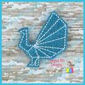 Origami Peacock Feltie