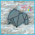 Origami Elephant Feltie