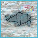Origami Rhino Feltie