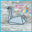 Origami Swan Feltie