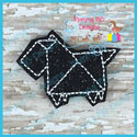Origami Scottie Dog Feltie