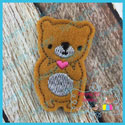 Bear With Heart Feltie