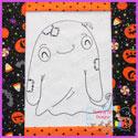 Ghostie Ghost Vintage Stitch Redwork