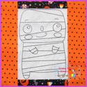 Mumford Mummy Vintage Stitch Redwork