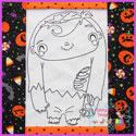 Zander Zombie Vintage Stitch Redwork
