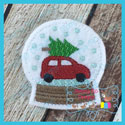 Snow Globe 1 Feltie - Car & Christmas Tree