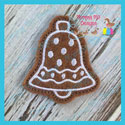 Gingerbread Cookie Feltie - Bell