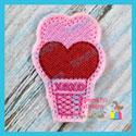 Heart Scoops Ice Cream Cone Feltie