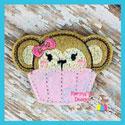 Monkey Cupcake Feltie