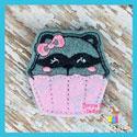 Raccoon Cupcake Feltie