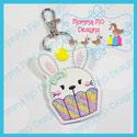 Cupcake Bunny Rabbit Snap Tab