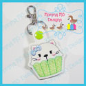 Cupcake Kitty Cat Snap Tab
