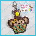 Cupcake Monkey Snap Tab