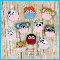 Animal Cupcake Feltie Bundle