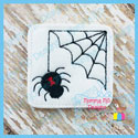 Black Widow Spider Web Feltie
