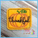 Thankful Pumpkin Feltie