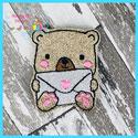 Love Letter Bear Feltie