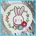 Bunny Wreath Feltie