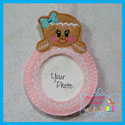 Gingerbread Girl Photo Ornament