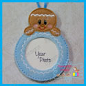 Gingerbread Boy Photo Ornament