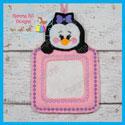 Penguin Girl Photo Ornament