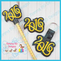 2016 Feltie, Pencil Topper, Snap Tab, Embroidery File Bundle