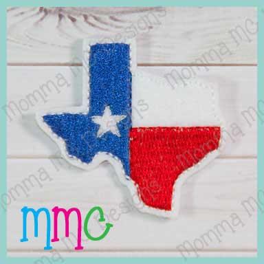 Texas Headband Feltie Set of 2 Cut Felties Texas Bow Center Home Grown Feltie Felt Applique Texas Feltie Texas Felties