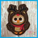 Reindeer Owl Feltie
