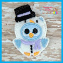 Snowman Owl Feltie