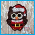 Santa Owl Feltie