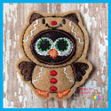 Gingerbread Owl Feltie