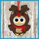 Reindeer Owl Ornament
