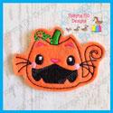 EXCLUSIVE Kitty Pumpkin Feltie
