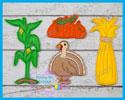 Fall Thanksgiving Harvest Set 4x4