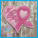Awareness Ribbon Heart Feltie
