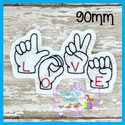 American Sign Language ASL Love Feltie