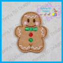 Gingerbread Boy Feltie