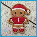 Santa Gingerbread Feltie