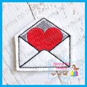 Heart in Envelope Feltie