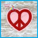 Peace Heart Feltie