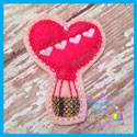 Heart Hot Air Balloon Feltie