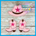 Cowboy Hat and Boots OS Felties