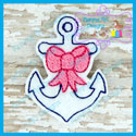 Anchor with Bow Feltie