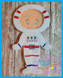 Astronaut  Space Suit 5x7
