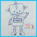 Robot 1 Redwork