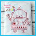 Robot 2 Redwork