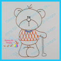 Golf Bear Color Work