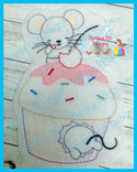 Cupcake Mice Color Work