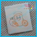 Breakfast Friends Juice - Redwork and Colorwork